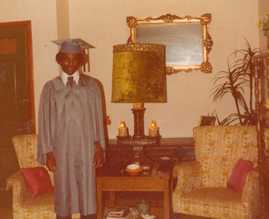 Rodney Fisher pictured on the day of his high school graduation. (Photo courtesy: Jewel Fisher)